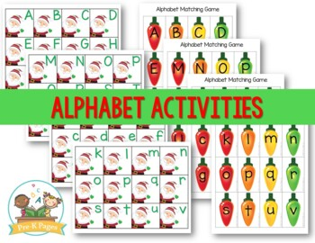 Christmas Literacy Activities for Pre-K