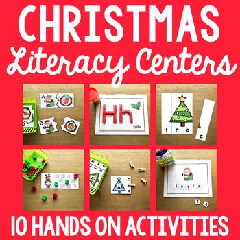 Christmas Literacy Mega Pack - Letter Matching, Beginning Sound, Writing + More!