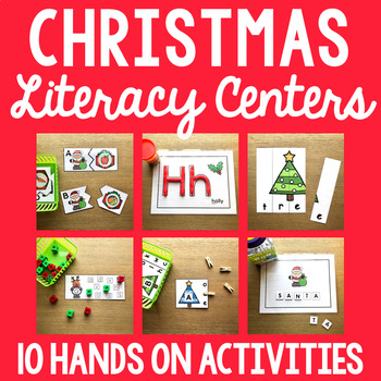 Christmas Literacy Mega Pack - Letter Matching, Beginning