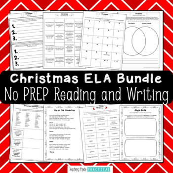 Christmas Reading and Writing Activities - Christmas Literacy Centers