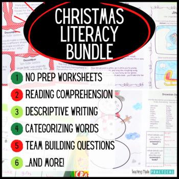 Christmas Reading Bundle – Christmas Literacy Centers, Christmas ELA Activities