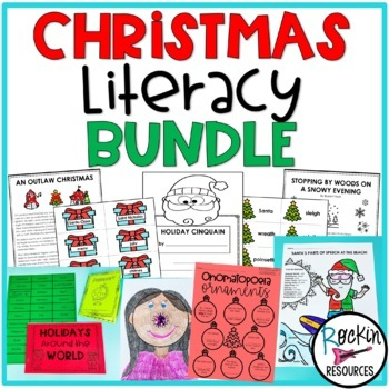 Christmas Literacy Bundle of Activities Great for Centers!