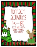 Christmas Literacy Center Activities for K and 1 to use tomorrow!