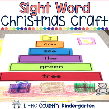 Christmas Literacy Center: Building Sight Word Tree