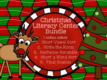 Christmas Literacy Center Bundle