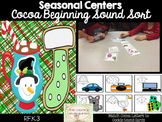 Christmas Literacy Center: Beginning Sound Sort Cocoa to Cookies