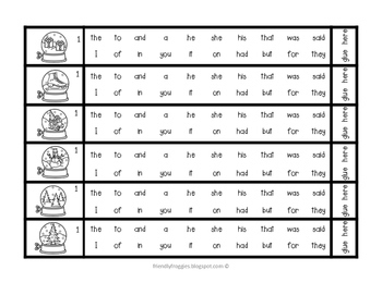 Dolch Sight Words Literacy Center Games - Holiday Christmas themed