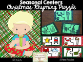 Christmas Literacy Center: Rhyming Puzzles