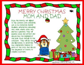 Christmas Literacy Center mini-lesson, printable with worksheet {FREE!}