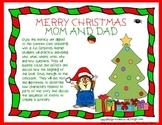 Christmas Literacy Center mini-lesson, printable with work