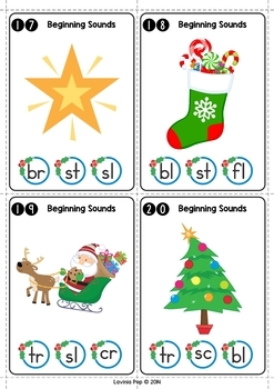 Christmas Literacy Centers for Kindergarten