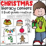 Christmas Literacy Centers First Grade