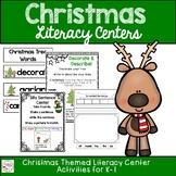 Kindergarten and First Grade Christmas Literacy Centers