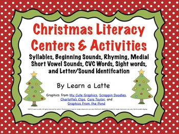 Christmas Literacy Centers & Activities (Over 100 pages; C