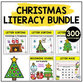 Christmas Literacy Centers Activities for Preschool