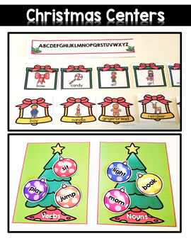 Christmas Literacy Centers {First Grade}