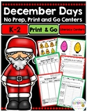 December Literacy Centers For Grades 1-3