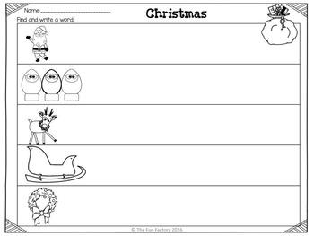 Christmas Literacy Centers PK K