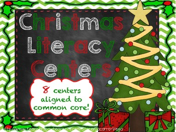 Christmas Literacy Centers: Third Grade! Common Core!