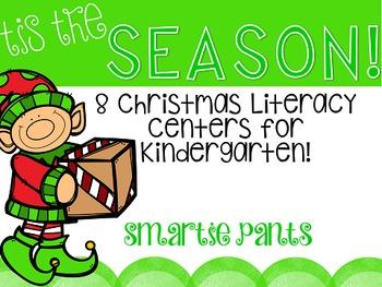 Christmas Literacy Centers for Kindergarten