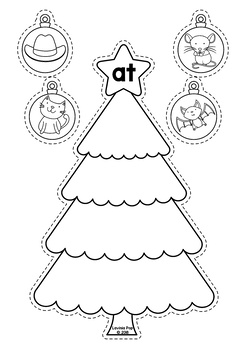 Christmas Literacy Centers for Kindergarten B&W
