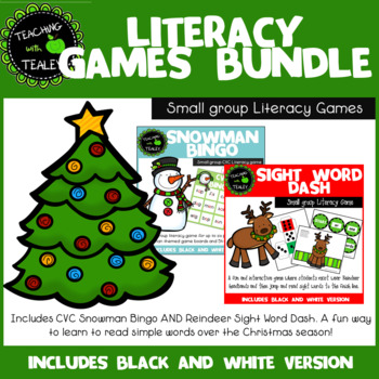 Christmas Literacy Game Bundle
