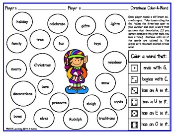 Christmas Literacy & Math Activities for Little Learners