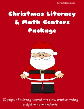 Christmas Literacy & Math Centers Package