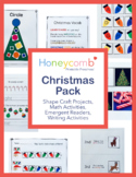 Christmas Literacy & Math Pack for Preschool, PreK & Kindergarten