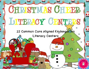 Christmas Literacy Pack Common Core Aligned 12 full centers+