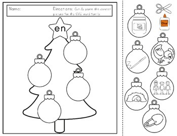 Christmas Literacy Pack: Pre-K and kindergarten