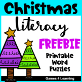 Free Christmas Worksheets Word Puzzles