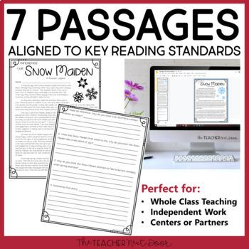 Christmas Literacy Set for 4th - 5th Grade | Christmas Activities