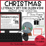 Christmas Literacy Set for 4th - 5th Grade | Christmas Activities