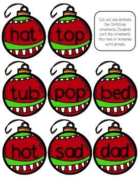 Christmas Literacy Sorts Freebie