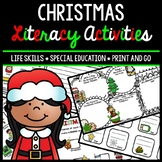 Christmas Literacy - Special Education - Life Skills - Print & Go - Reading