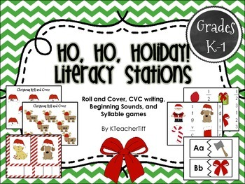 Christmas Literacy Stations