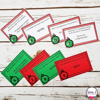 Christmas Literacy Task Cards