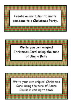 Christmas Literacy Task Cards