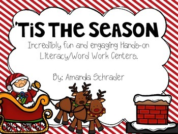 Christmas Literacy/ Word Work Centers