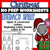 Christmas Literacy Worksheets