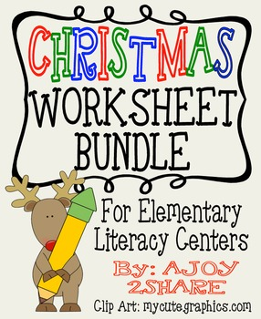 Christmas Literacy Worksheets Bundle
