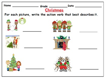 Christmas Literacy Worksheets with Pictures :