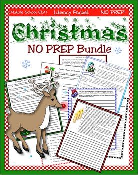 Last Minute Christmas! A NO-PREP, ELA Mini-Bundle!