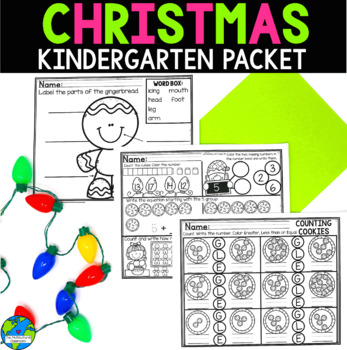 Christmas Literacy, Writing & Math Packet + Mr. Mean Green Packet