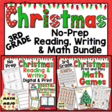 3rd Grade Christmas Activities: 3rd Grade Literacy and Math Christmas Activities