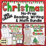 3rd Grade Christmas Activities: Third Grade Christmas Print and Go ELA and Math