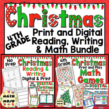Christmas Images To Print.4th Grade Christmas Activities 4th Grade Christmas Print And Go Ela And Math