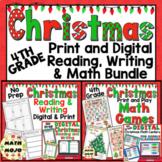 4th Grade Christmas Activities: 4th Grade Christmas Print and Go ELA and Math