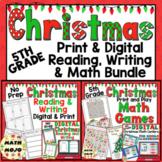 5th Grade Christmas Activities: 5th Grade Christmas Print and Go ELA and Math